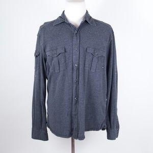 Victorinox Gray Pearl Snap Western Shirt XL